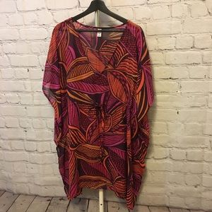 Leaf Print Tunic/Coverup